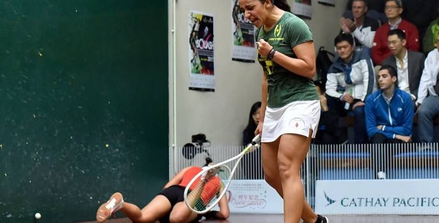 رنيم الوليلي تتأهل لمواجهة نوران جوهر في نهائي بطولة الجونة للاسكواش