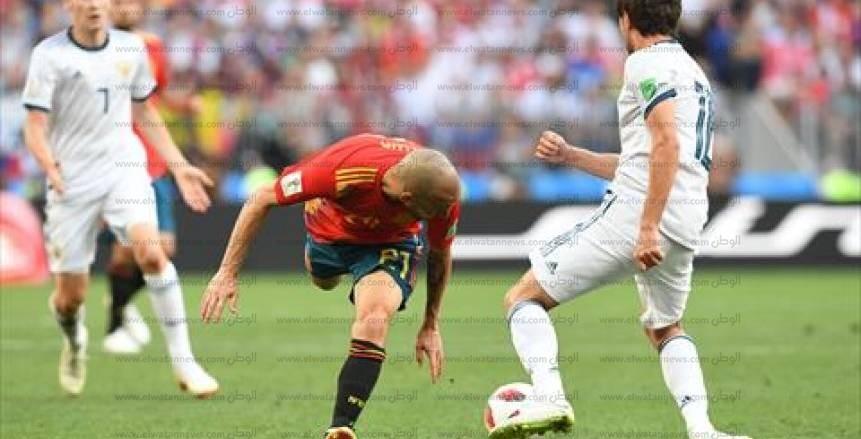 صور مباراة إسبانيا وسويسرا