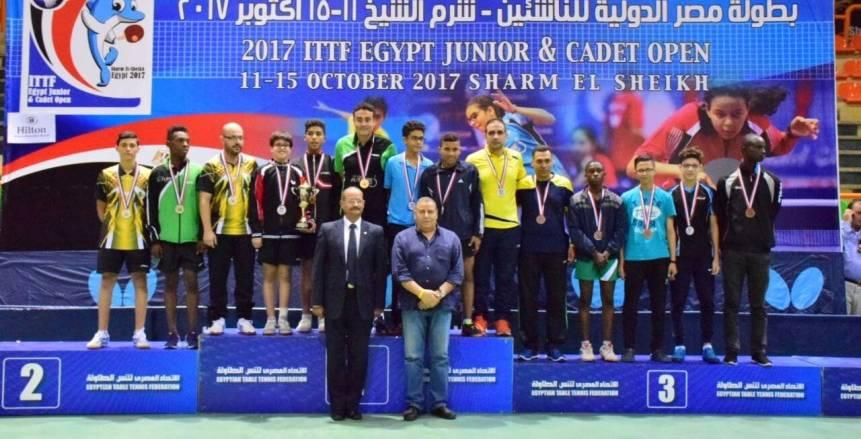 تألق مصري في ختام منافسات الفرق بالبطولة الدولية لناشئي تنس الطاولة
