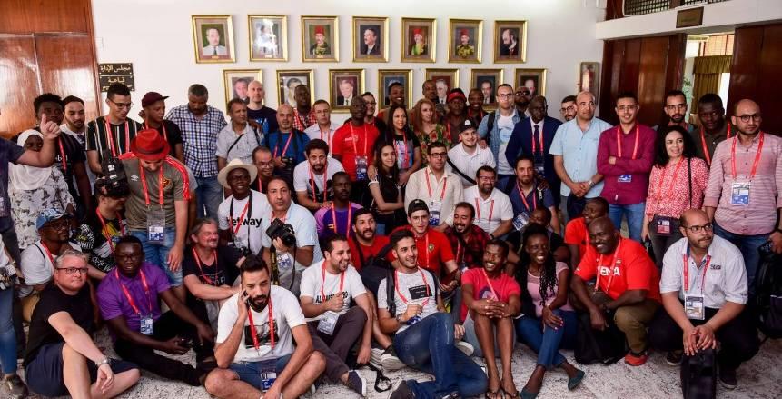 بالصور| الإعلاميون الأجانب والعرب والأفارقة فى ضيافة الأهلى