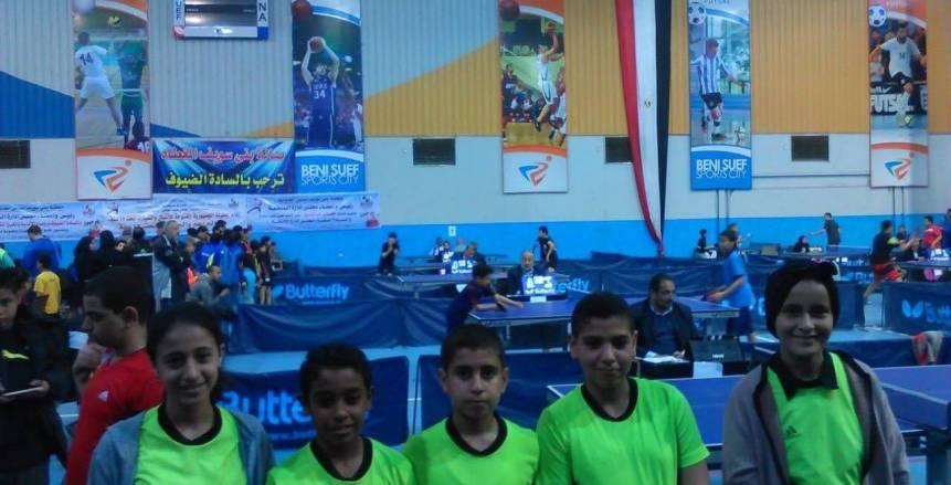 الشباب والرياضة تنظم بطولة لتنس الطاولة ببني سويف للواعدين