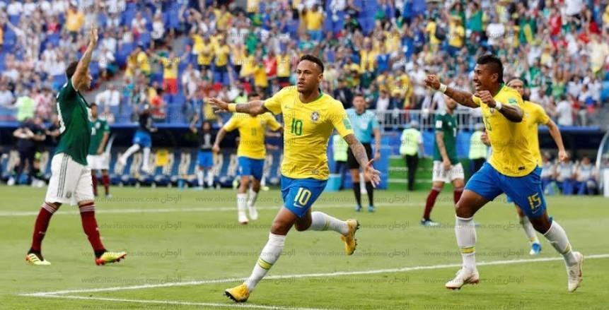 صور مباراة البرازيل والمكسيك