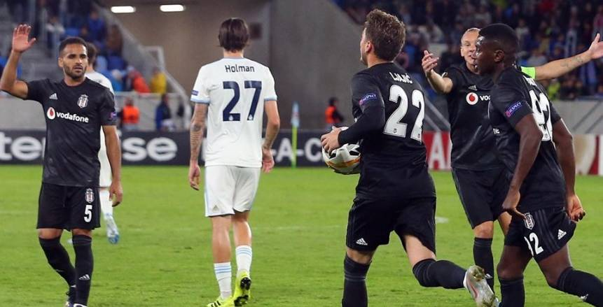 مباراة بشكتاش الأولى في الدوري الأوروبي
