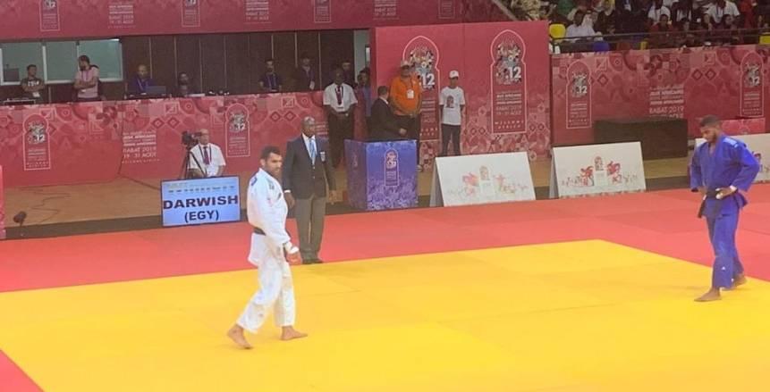 رمضان درويش يحقق ذهبية الجودو في دورة الألعاب الأفريقية