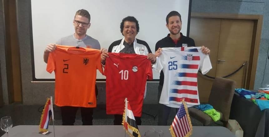 بالصور| مصر ترتدي القميص الأحمر في ودية أمريكا