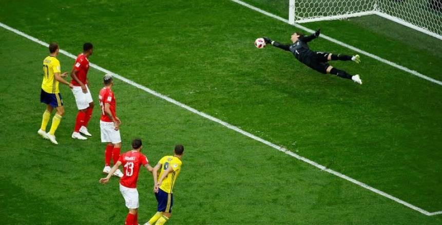 صور مباراة السويد وسويسرا