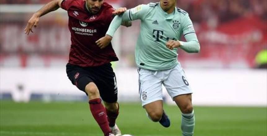 بايرن ميونيخ يتعادل مع نورنبرج 1-1 ويشعل الدوري الألماني