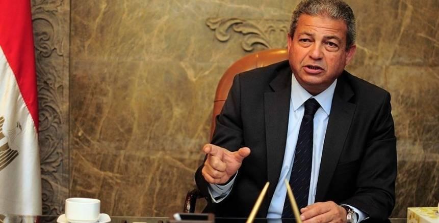 وزير الرياضة يلتقى نقيب الصحفيين