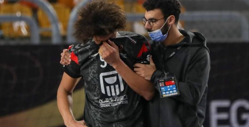 بكاء وانهيار لاعبي منتخب مصر عقب الخروج أمام الدنمارك بالمونديال «صور»