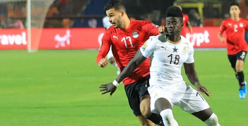 مباراة المنتخب الأولمبي أمام غانا في بطولة الأمم الافريقية تحت 23 عام