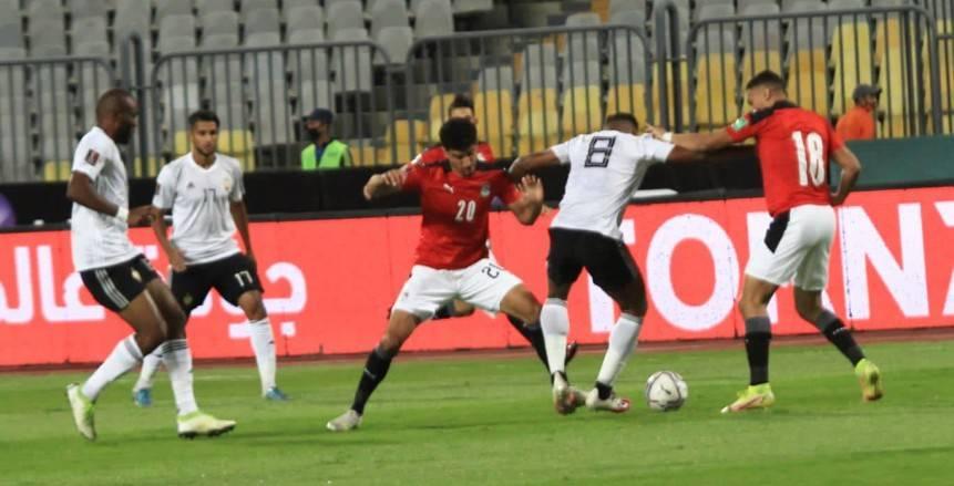 فتوح ومصطفى محمد يتقدمان لمصر بهدفين ضد ليبيا بالشوط الأول «فيديو»