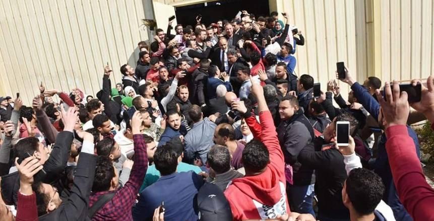 بالصور  ملخص زيارة محمود الخطيب للمنصورة.. حفاوة وهتافات مدوية