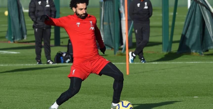 محمد صلاح ينشر صور تدريبات ليفربول قبل مواجهة مانشستر يونايتد (صور)