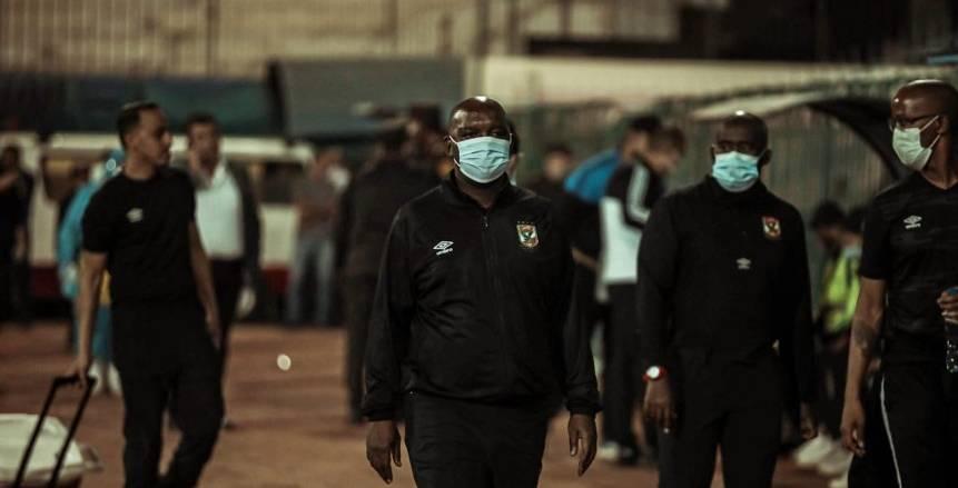 الشوط الأول من مباراة غزل المحلة والأهلي في استاد المحلة