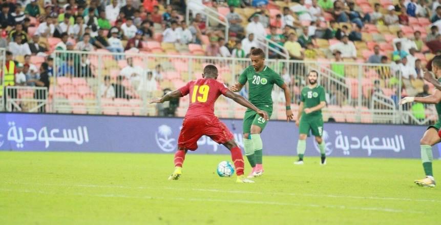 وديًا  منتخب غانا يفوز على السعودية بثلاثية نظيفة