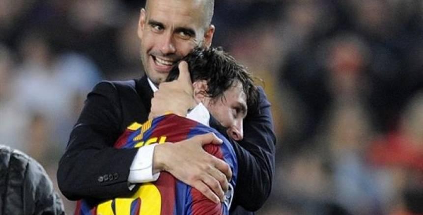 مكالمة سرية بين ميسي وجوارديولا من أجل عودته لبرشلونة