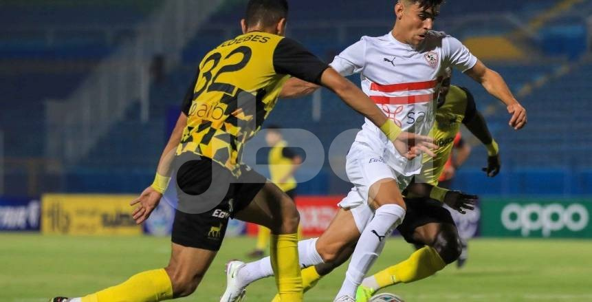 لقطات من مباراة الزمالك ووادي دجلة في الدوري المصري