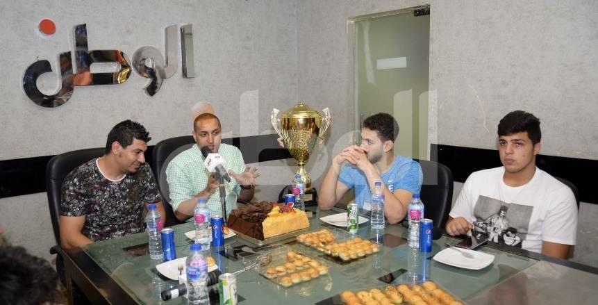 ندوة الوطن لأبطال منتخب مصر.. ياسر سيف: أصبحنا حديث العالم.. وسنحافظ على الانتصارات