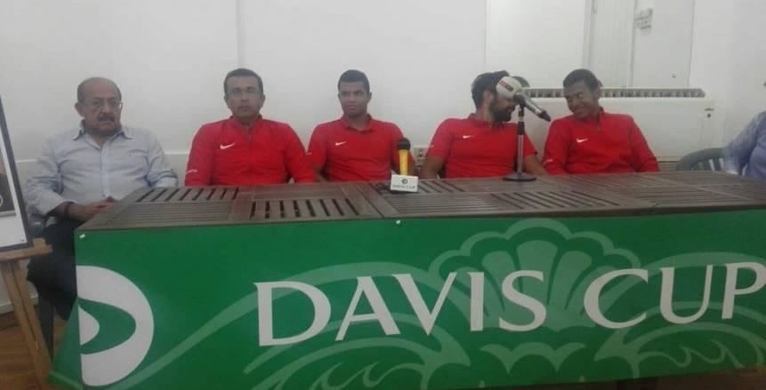 منتخب التنس يعلن التحدي قبل مواجهة سلوفينيا في كأس ديفيز