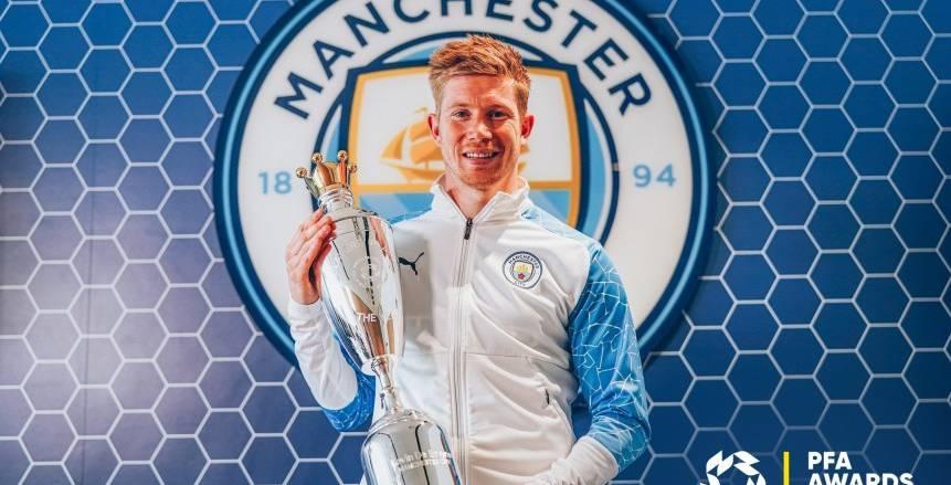 دي بروين يفوز بجائزة أفضل لاعب بالبريمرليج من رابطة اللاعبين المحترفين