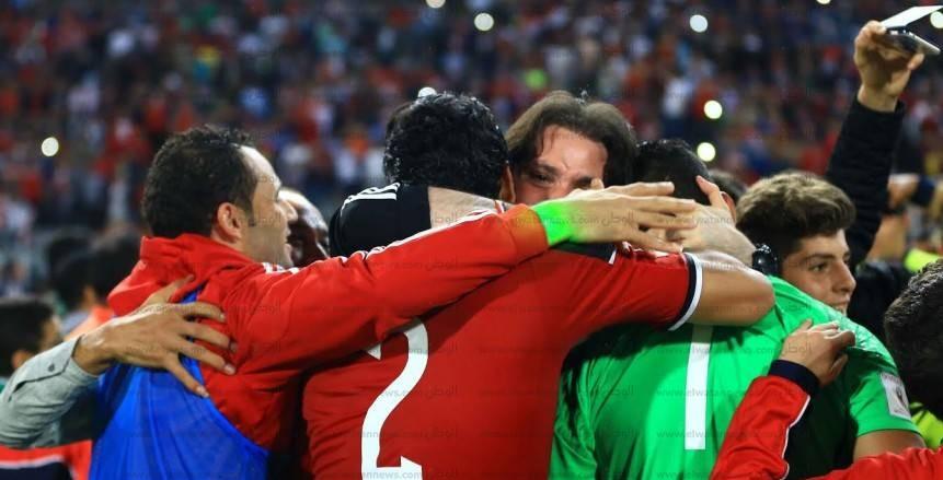إحتفالات الحضري علي العارضة بعد الفوز علي غانا