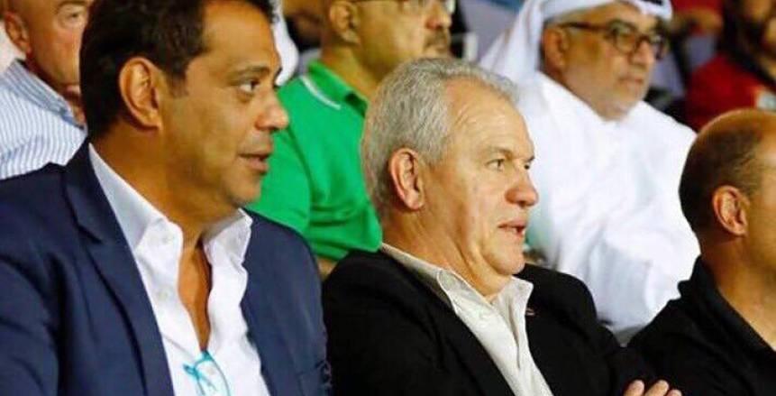 بالصور.. أجيري يحضر مباراة الأهلي والمصري