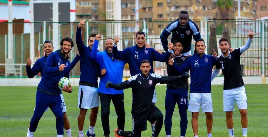 مران الزمالك بعد تأجيل مباراة المصري البورسعيدي في الدوري