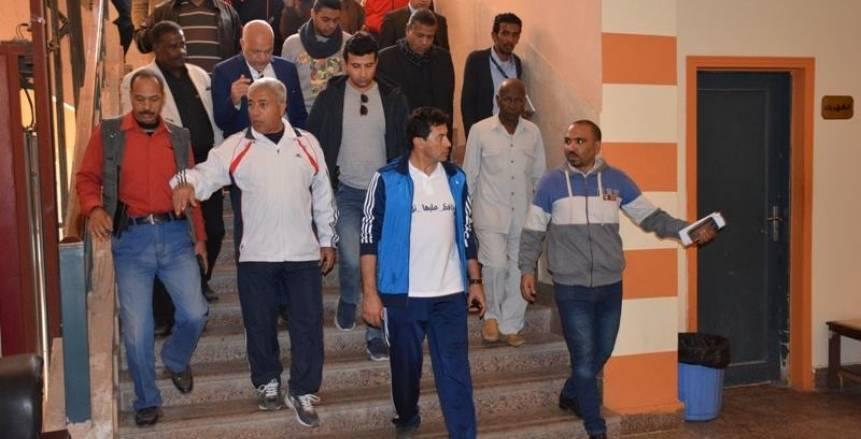 وزير الشباب الرياضة يتفقد معسكر العقاد والمدينة الشبابية والصالة المغطاة واستاد أسوان