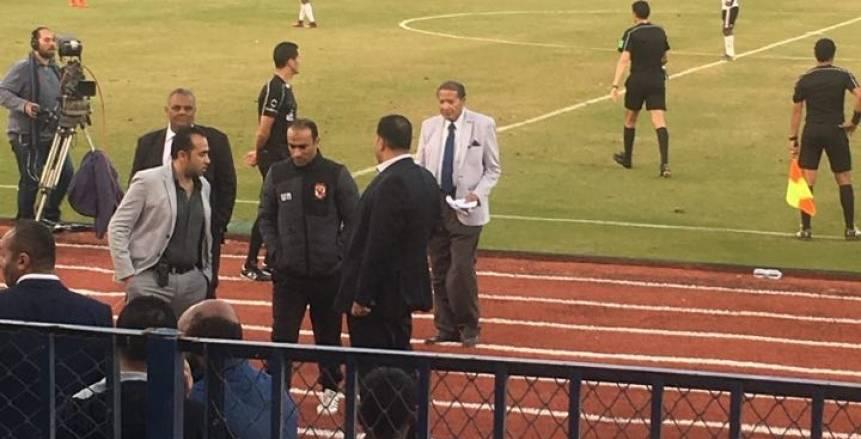 طرد سيد عبد الحفيظ في مباراة الأهلي والجونة