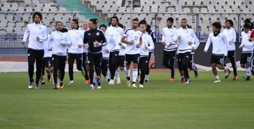 التدريب النهائي لمنتخب مصر قبل مواجهة تونس وديا