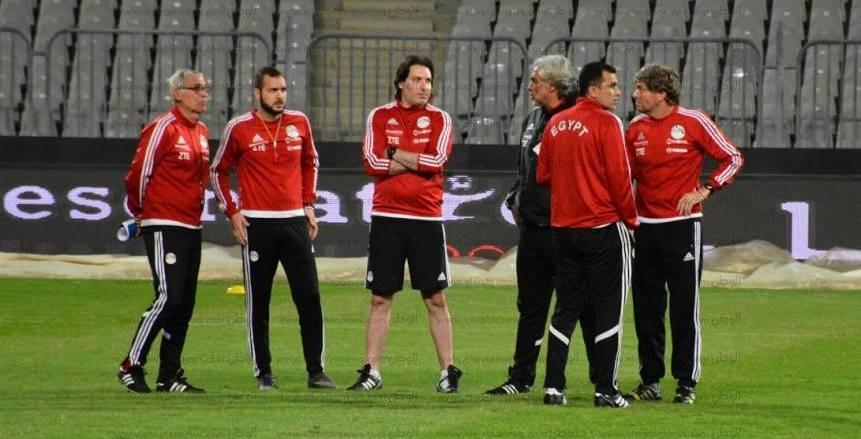 تدريب منتخب مصر قبل مواجهة غانا بحضور هاني ابو ريدة وأحمد حسن