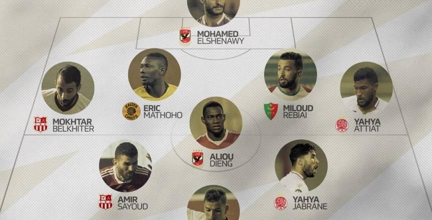الكاف يختار الشناوي وديانج بالتشكيل المثالي لذهاب ربع نهائي دوري الأبطال