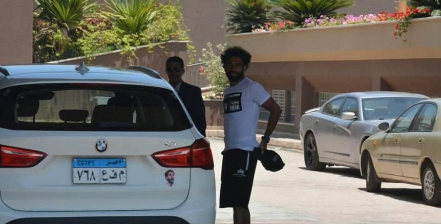 حارس وسيارة خاصة لمحمد صلاح في معسكر الفراعنة