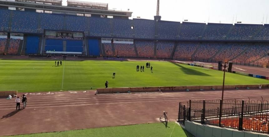الزمالك يصل ستاد القاهرة ويعاين أرضية الملعب