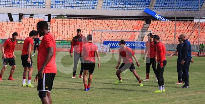 شاهد بالصور| مران الأهلي الأخير قبل مواجهة «سيمبا» في دوري أبطال أفريقيا
