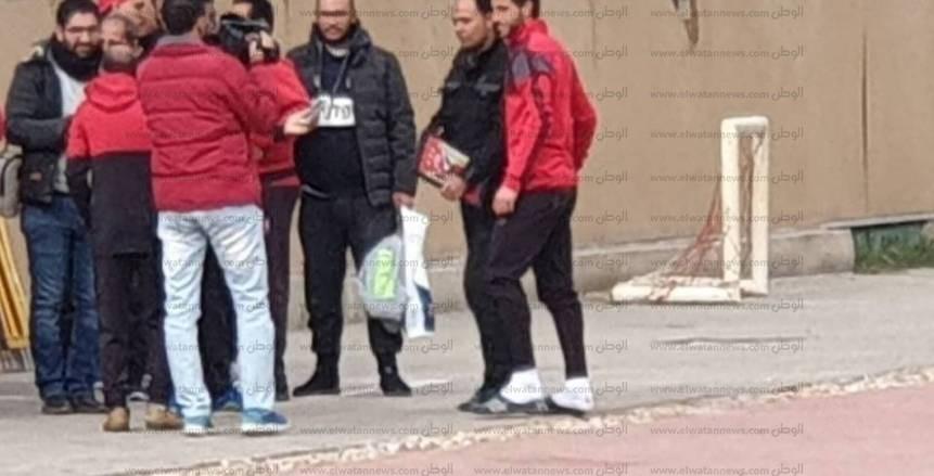 حمدي فتحي يخوض مرانه الاول مع الأهلي