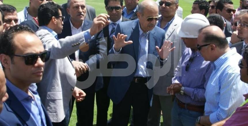 بالصور| مستشار رئيس الجمهورية يتفقد ستاد الإسماعيلية ويشيد بأعمال التطوير
