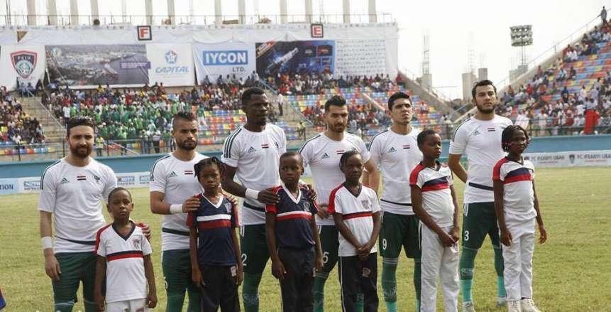 مباراة المصري وإيفياني النيجيري في كأس الكونفدرالية الأفريقية 2017