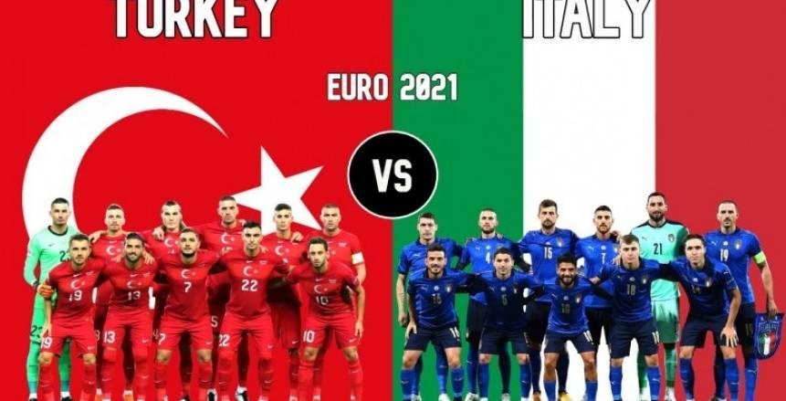 بث مباشر لمباراة إيطاليا وتركيا في افتتاح يورو 2020
