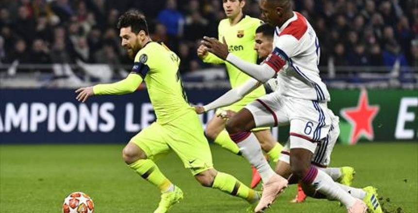 التعادل السلبي يحسم مواجهة برشلونة وليون في ذهاب دور الـ16 بدوري أبطال أوروبا