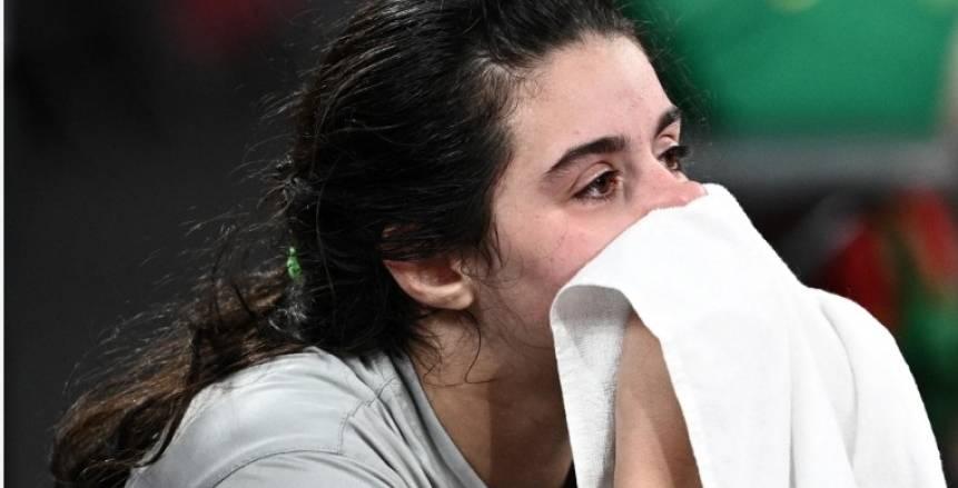 أصغر لاعبة.. دموع هند ظاظا تخطف القلوب لوداع أولمبياد طوكيو