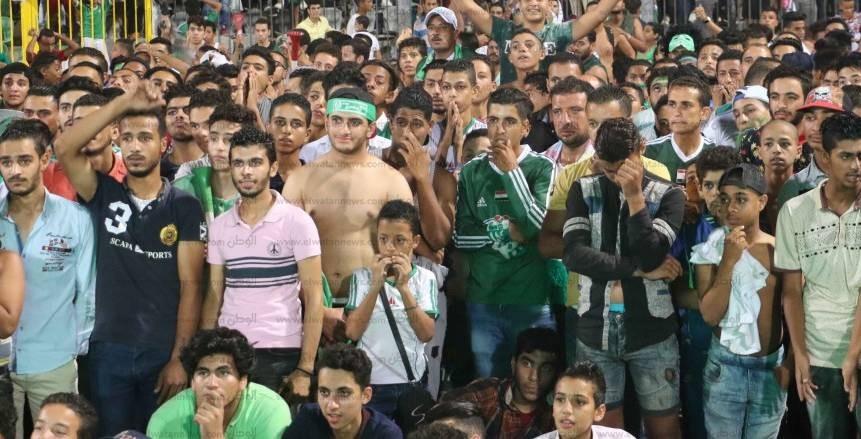 أحزان جمهور المصري البورسعيدي بعد خسارة لقب كأس مصر