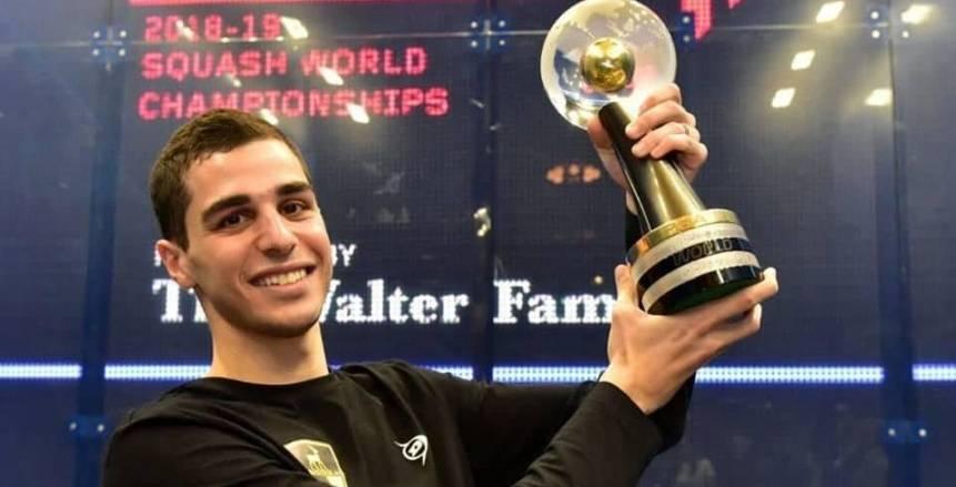 علي فرج يفوز ببطولة الجونة الدولية للإسكواش