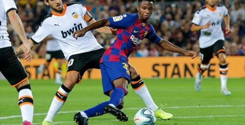 الدوري الإسباني.. برشلونة يتقدم على فالنسيا 2-1 في الشوط الأول