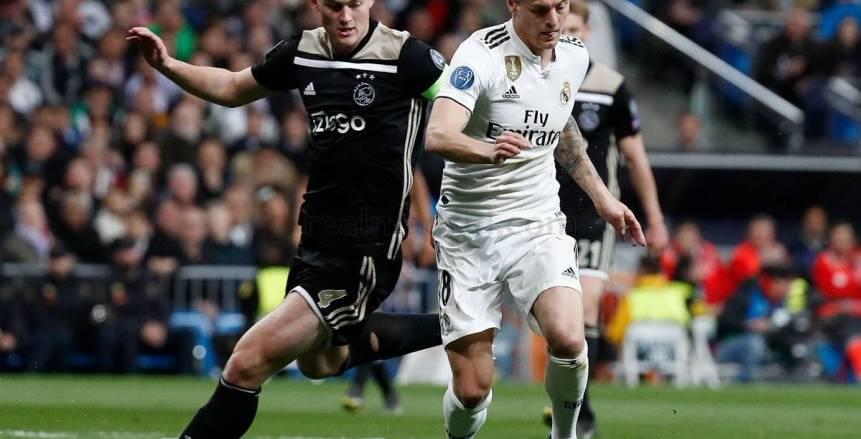 بالفيديو| أياكس يتقدم على ريال مدريد بثنائية في الشوط الأول