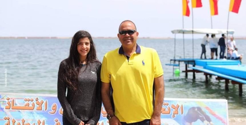 سباحتان بمنتخب للسباحة بالزعانف تحطمان الرقم المصرى في سباق 100م غوص و400 م زعانف