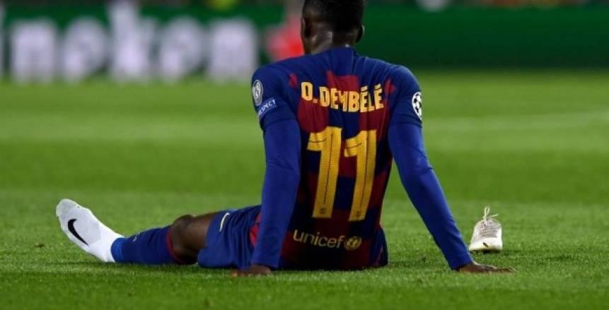 تقارير: برشلونة يفقد ديمبلي في مواجهة نابولي