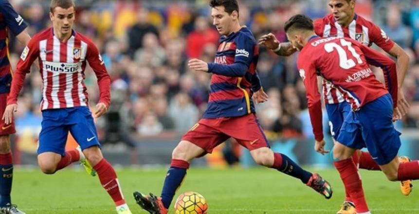 بث مباشر لمباراة برشلونة وأتلتيكو مدريد اليوم في الدوري الإسباني