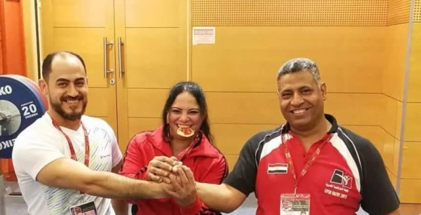 جيهان عبد العزيز تحقق الميدالية البرونزية فى بطولة العالم لرفع الأثقال