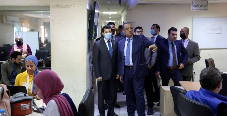 أشرف صبحي وزير الشباب والرياضة في ضيافة الوطن